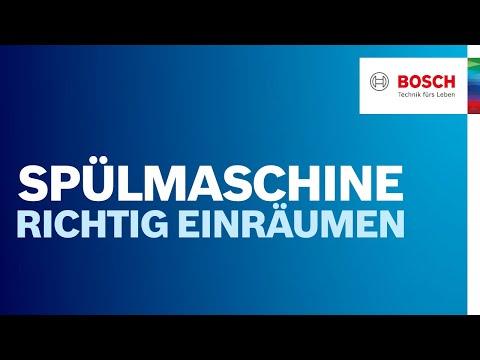 Geschirrspüler von Bosch richtig beladen