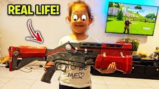 Fortnite Items IN REAL LIFE! (MrBeast, Tfue, Ali-A)