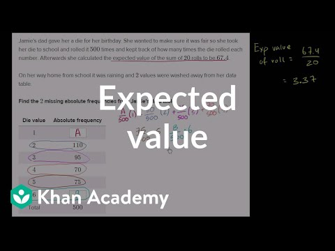 Getting data from expected value (video) | Khan Academy