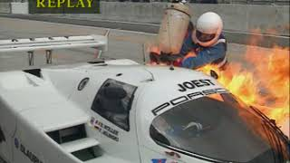 United_SportsCars - Suzuka1990 UnitedSportscars Joest Pit Road Fire