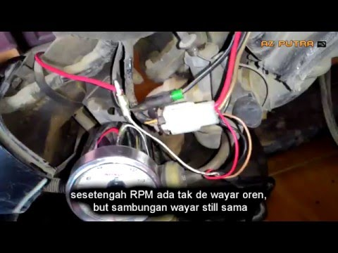 Video TUTORIAL : Cara pasang meter RPM KOSO Kriss 110