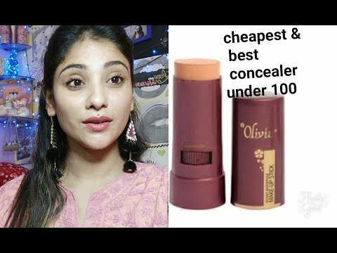 best & cheapest concealer in 100 rs in India || Olivia pan stick concealer review || shy styles