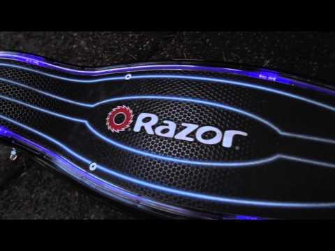 Razor E100 Glow Electric Scooter Ride Video