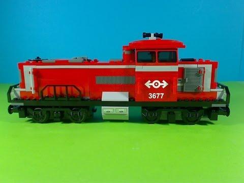 Vidéo LEGO City 3677 : Train de marchandises rouge