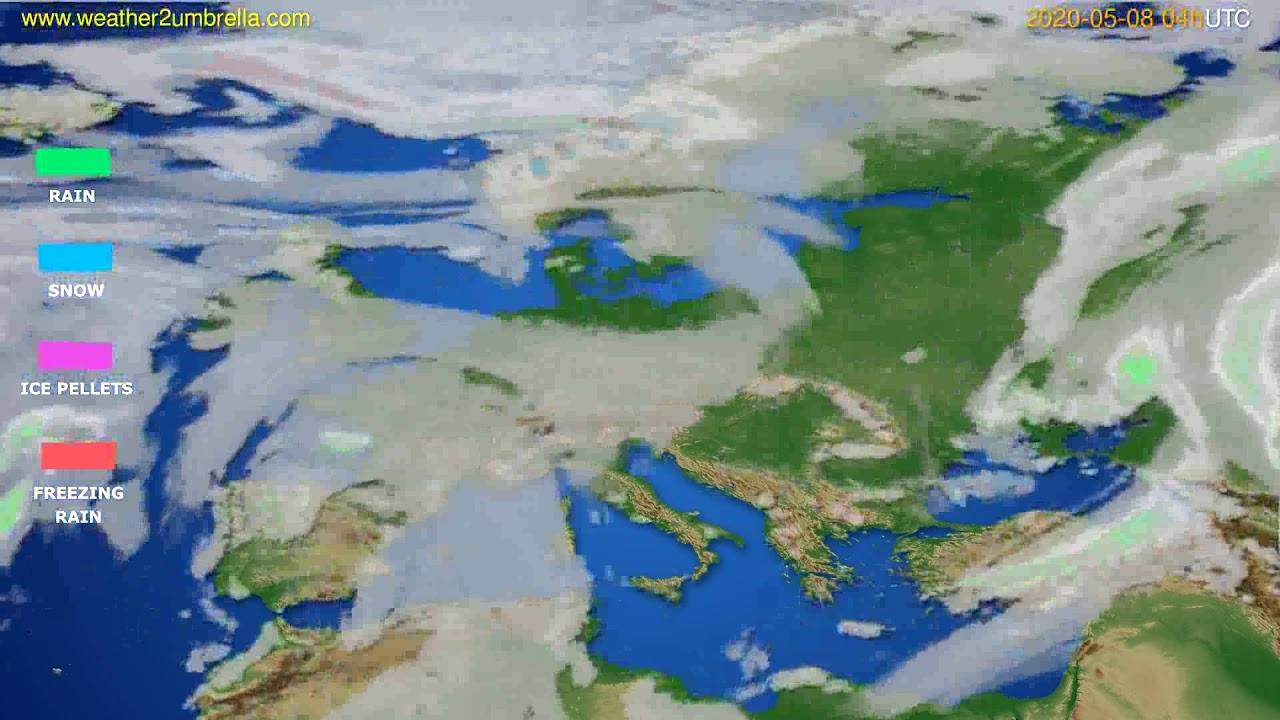 Precipitation forecast Europe // modelrun: 12h UTC 2020-05-07