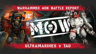 Warhammer 40,000 Battle Report: Tau vs Space Wolves 1550p #24 - Most