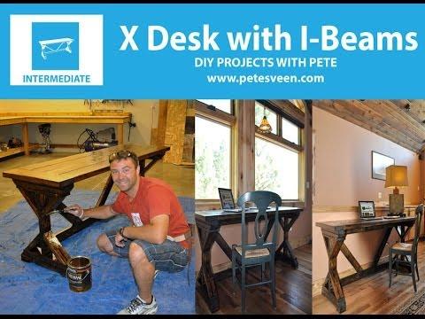 How to make a desk   Rustic Desk
