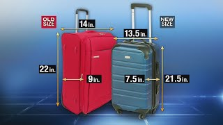 New guidelines proposed for size of carry-on luggage