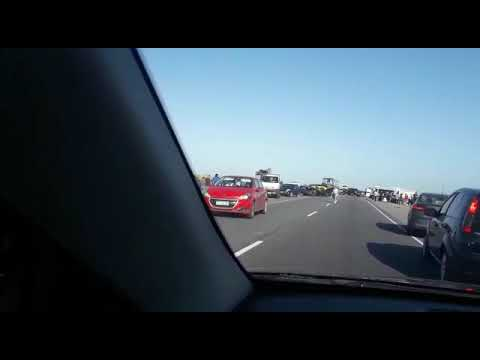 Video. Tres autos chocaron en ruta 11 a la altura de San Clemente: un muerto y tres heridos