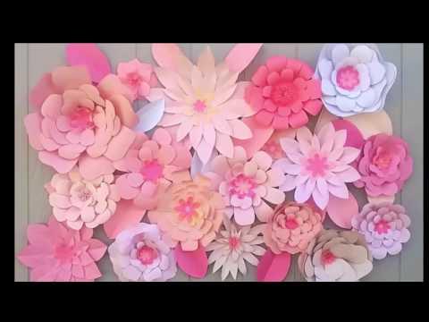 Decoraciones con flores de papel/Backdrop flower ideas