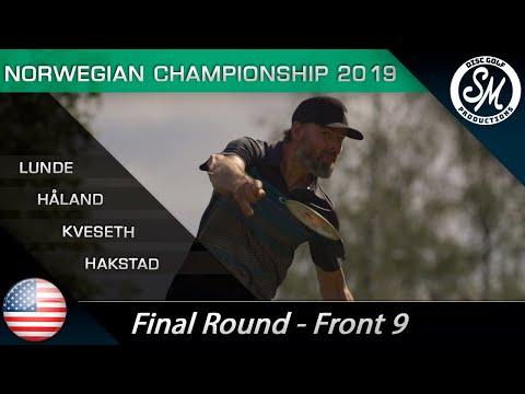 NDGC 2019 | Siste runde Front 9 | Lunde, Kveseth, Håland, Hakstad