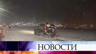 На юге России выпал первый снег.