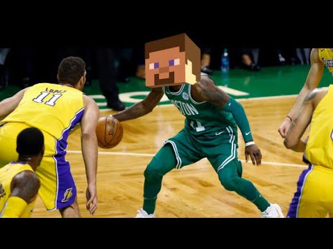 NBA Ankle breakers but every ankle breaker steve from minecrafts gets hurt