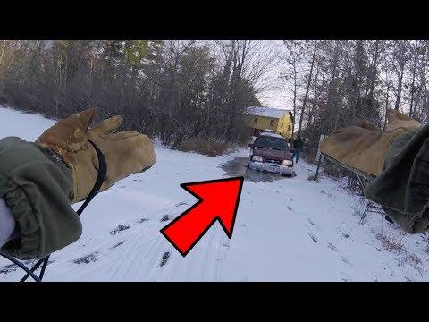 CAR FALLS THROUGH THIN ICE! (DUMB ICE FISHING MISTAKE)