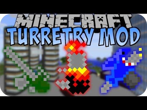Minecraft TURRETRY MOD (Flammenwerfer, Sniper und mehr)