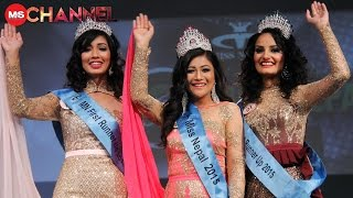 Miss Nepal 2015 Evana Manandhar crowning moment