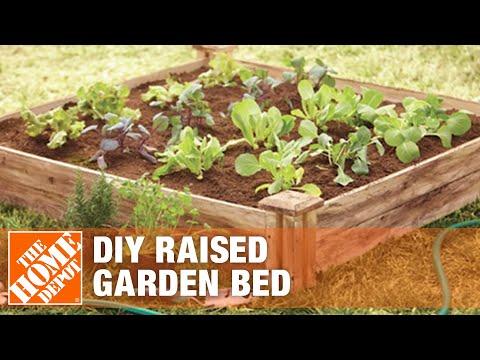 DIY Raised Garden Bed – Small Garden Ideas | The Home Depot