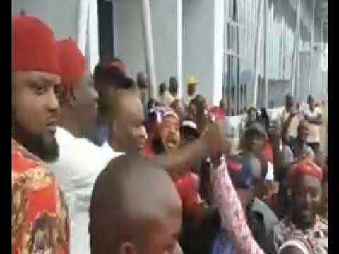 IPOB Attack : Ekweremadu Arrives Enugu Receives Heroic Welcome