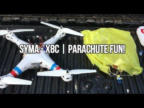 Syma X8C PARACHUTE FUN! Feat.The TX03 (BANGGOOD)