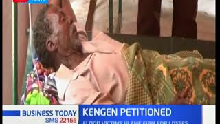 Flood victims sign a petition to force KenGen to compensate them