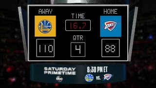 Warriors @ Thunder LIVE Scoreboard - Join the conversation & catch all the action on #NBAonABC!