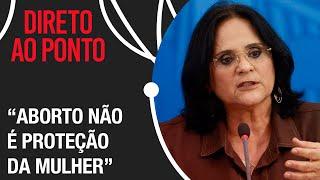 'Nunca vamos nos curvar para legalizar o aborto no Brasil', afirma Damares Alves