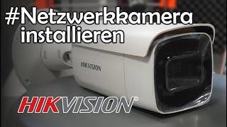 Hikvision PoE Netzwerkkamera installieren - Kabel durchs Haus und crimpen!