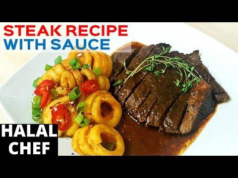 Steak Recipe with Steak Pepper Sauce