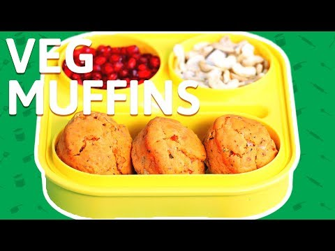 Healthy Vegetable Egg Muffins - Egg & Veggie Muffins with Cheese  - Muffin Recipe For Kids Lunch Box