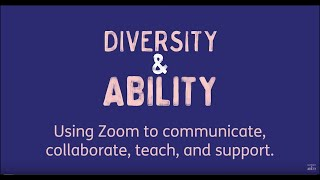 Using Zoom to communicate, collaborate, teach, and support.