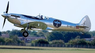 video: Silver Spitfire pilot log week two: flying through poor visibility into the arms of the US air force