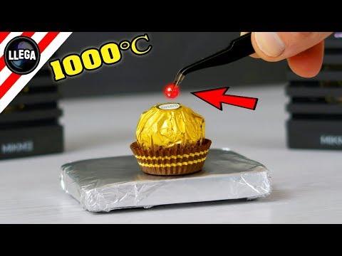 🔴 🔥 EXPERIMENTO   MINI BOLA DE METAL A 1000 GRADOS Vs BOMBON   RHNB   ASMR