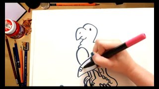 Como dibujar un Loro - dibujos para niños