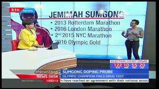 Olympic marathon champion Jemima Sumgong fails a doping test