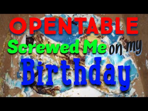 Don't Trust Technology, Birthday Almost Got Screwed Up From Open Table Error