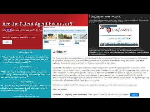 Webinar No. 1 — Preparing for the Patent Agent Exam - YouTube