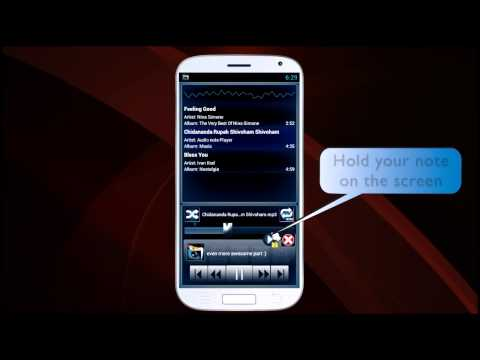 Video of Audio Note Player