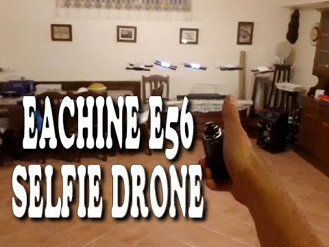 Eachine E56 selfie drone - unboxing, test and review - ITA