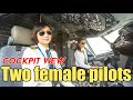Two female pilots fly the A320 by ShenZhen Airlines