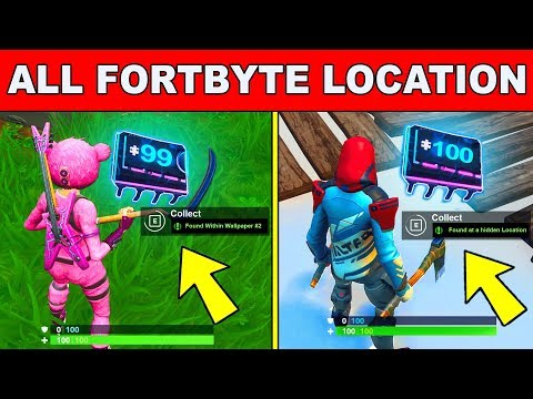 *NEW* Fortbyte All Locations - UNLOCK ALL FORTBYTES Fortnite Season 9 (Fortbyte Challenges)