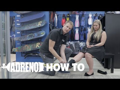 How to Fit an Open Heel Scuba Diving Fin | ADRENO Scuba Diving