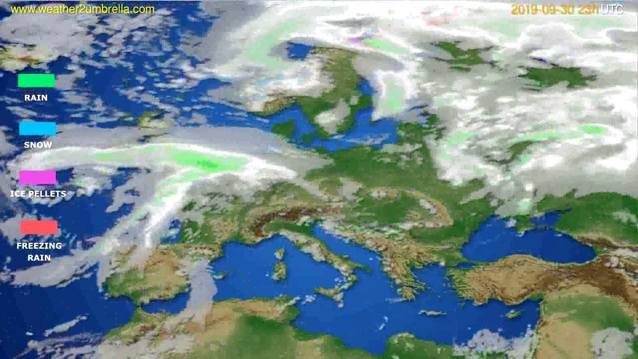 Precipitation forecast Europe // modelrun: 12h UTC 2019-09-27