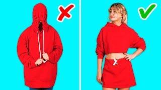 حيل للملابس لن تكلف فلسا واحدا! || مشاريع حرفية للملابس بواسطة 123Go! Gold