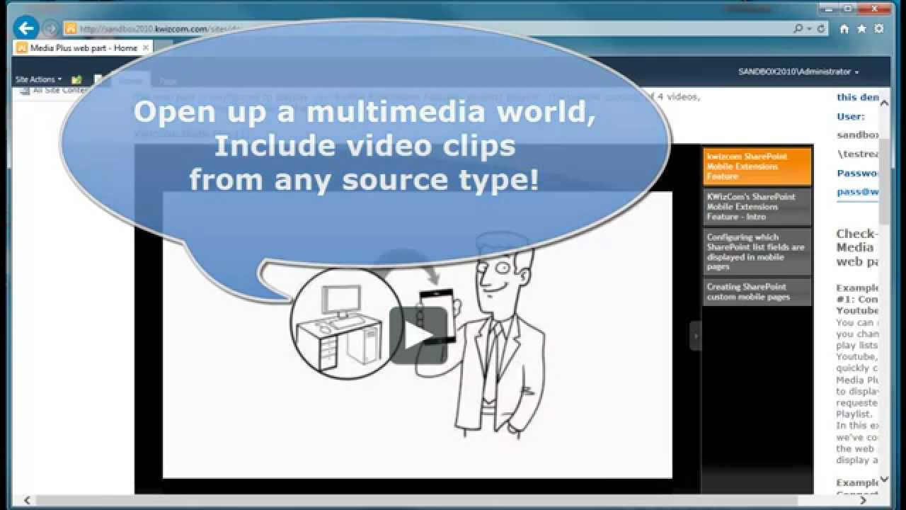 KWizCom Media Plus web part