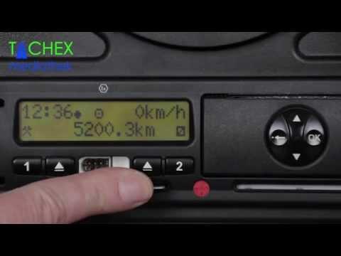 Einstellungen Digitaler Tachograph zu Schichtbeginn bei VDO 1.2 - 1.3u