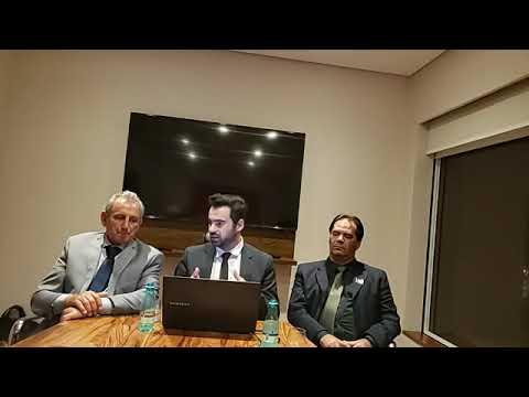 Prefeito Ayres Scorsatto na live direto de Brasília com o Vereador Ginho