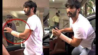 Sushant Singh Rajput Hand Injured Spotted Outside Kedarnath Director's Office