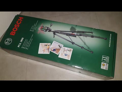 Bosch PLL 360 Gross Line Laser unboxing and test