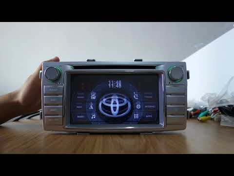 AUTORADIO GPS BLUETOOTH WIFI Android 8.0 Hilux 2012 à 2015
