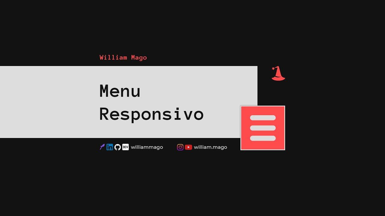 menu responsivo com CSS e JS